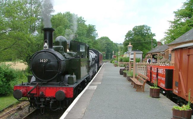 South Devon Railway 1420 on a Sunday milk train