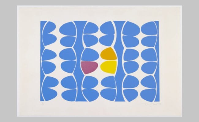 Alhambra Blue by Sir Terry Frost. Screenprint. 1974