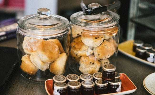 Enjoy delicious Devon cream teas at The Kitchen restaurant