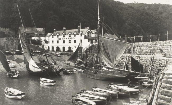 Clovelly's old harbour