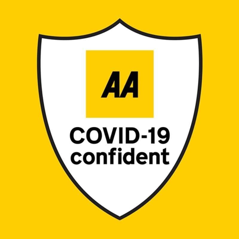 Covid AA covid confident logo