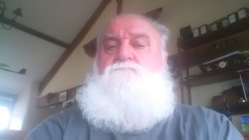 Dick Wood - South Devon Railway SOS appeal unshaven beard pic