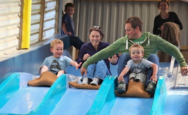 Big Blue Slide at World of Country Life Exmouth Devon