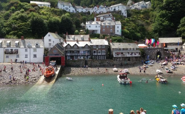 Clovelly's working harbour