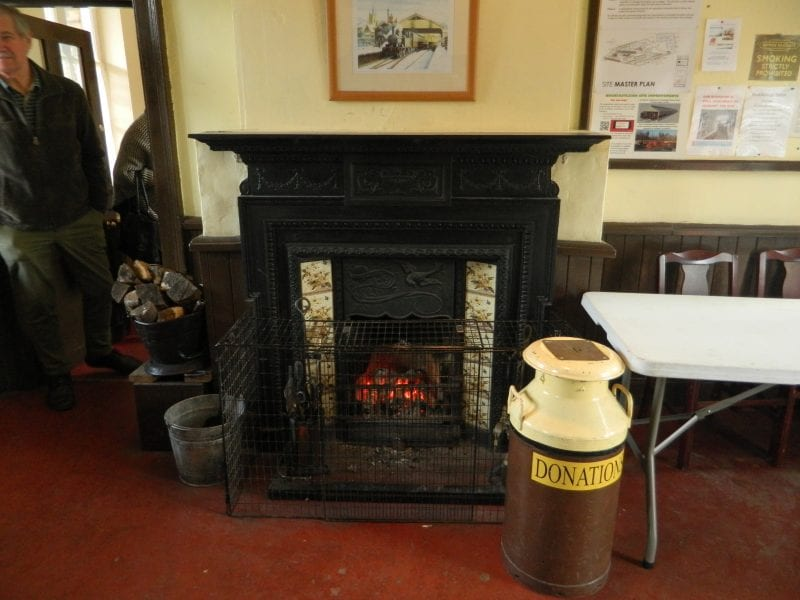 South Devon Railway - Waiting office with fire