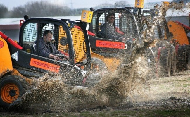 Dumper racing at Diggerland