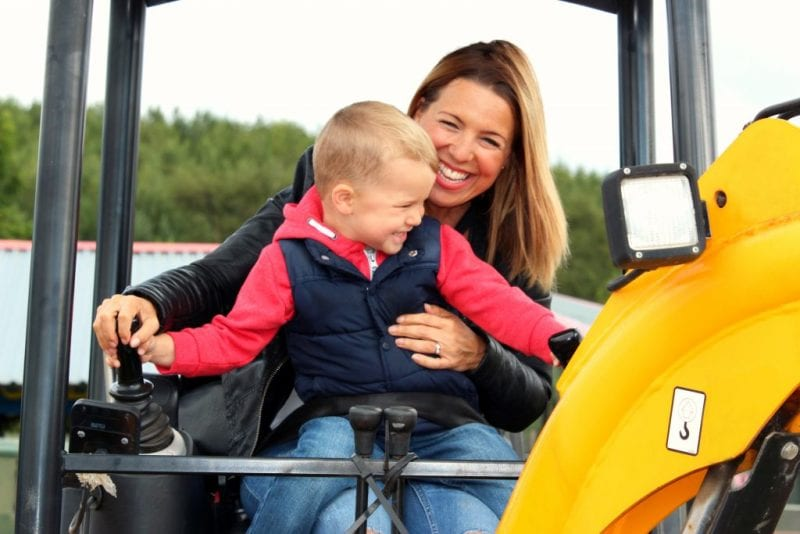 Diggerland mum and son