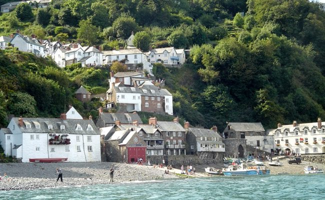 View of Clovelly from the sea