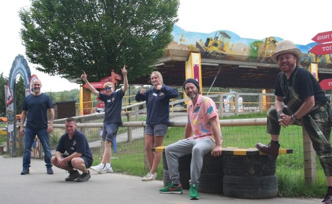 Keith Lemon filming at Diggerland