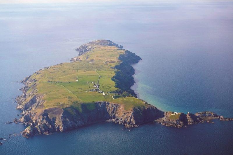 Lundy Island Aerial shot