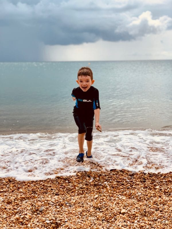 Devon's Top Attractions photo competition Matt Lamoon runner up image boy on Blackpool sands beach