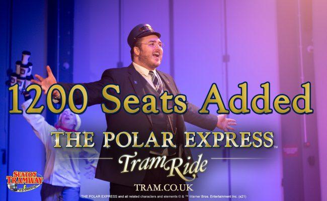 The Polar Express Tram Ride Devon 1200 Seats added
