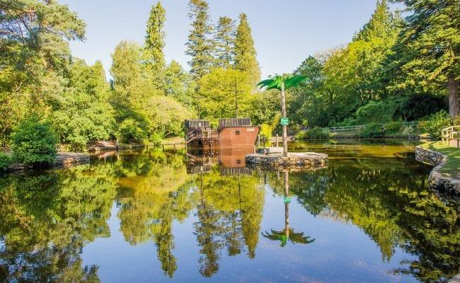 Pirate Ship Lake at River Dart Country Park