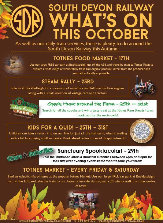 South Devon Railway Autumn events