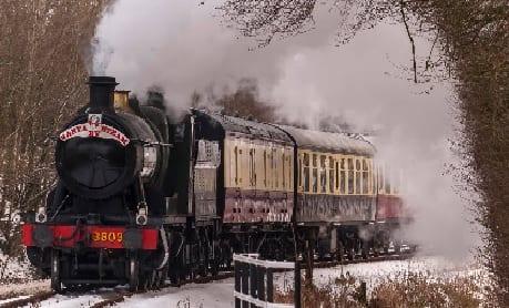 Santa by steam at South Devon Railway