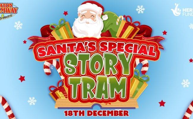 Santas Special Story Tram at Seaton Tramway, 18th December
