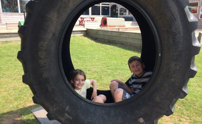 World of Country Life - Devon's Top Attractions - giant tyre