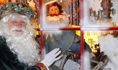 Victorian Green Father Christmas at Bygones