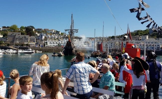 sailing into brixham harbour