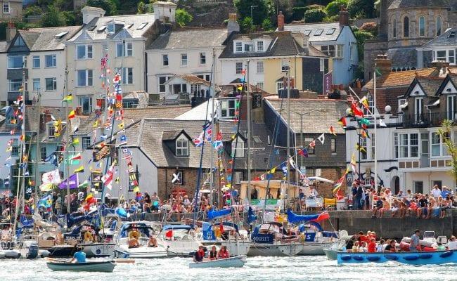 busy port of dartmouth at the royal regatta