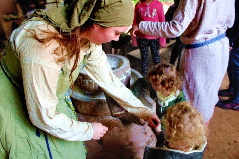 Saxon crafts at Wildwood Escot